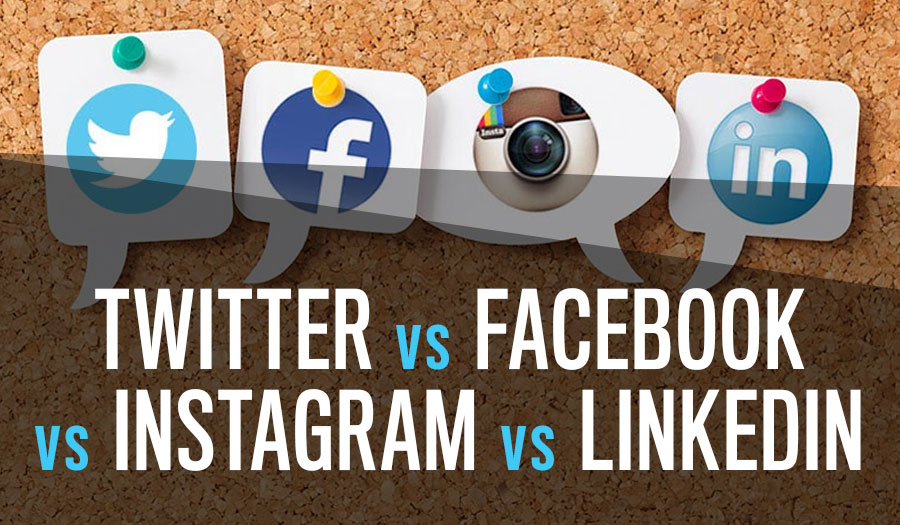 Twitter Vs Facebook Vs Instagram Vs LinkedIn: Which is Right for You?